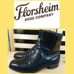 FLORSHEIM Regent Men's Black Leather Ankle BOOTS